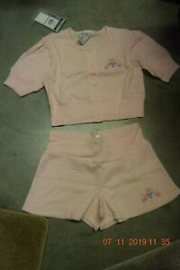 Pink Danskin Short sleeve top and shorts - Warm ups -Child small - Age 4-5