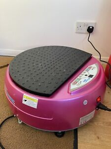 Pink Vibraplate Weight Loss Aid Sports Home Fitness Vibration Vibrapower Plate