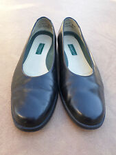 GH Bass Black Leather Slip On Ballet Flats Casual Women's 8.5