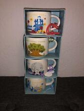 "Disney World Starbucks New Set of 4 Theme Park Mug Ornaments 2"" YAH Collection"
