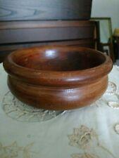 "Small Vintage Turned Wooden Display Bowl 5.5"" in Diameter."