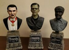Sideshow The Legacy Collection Dracula, Frankenstein, The Wolf Man Busts Nice!!