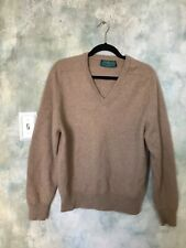 New listing Vintage Alan Paine Tan Cashmere Pullover Sweater Sz. 44