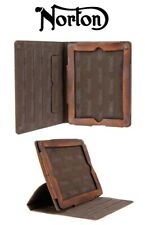 Norton 9.7 inch iPad Case / Cover - Rugged Heavy Duty Leather Protector & Stand