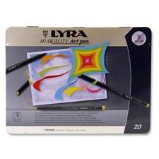 Art Pens LYRA Fine Nib Top High Quality Artist Pen Set of 20 Storage Tin Box