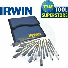 Irwin 4X 17pc Blue Groove Flat Spade Bit Set 6-38mm Wallet 1840636 IRW1840636