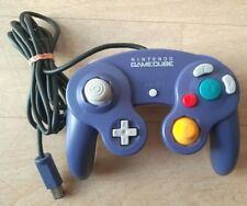 Manette Nintendo Gamecube GC Violet Purple Clear Indigo Controller Pad - TBE