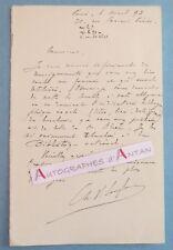 ♦ L.A.S 1893 Ch Victor LANGLOIS Historien Paléographe école Chartes Rouen Lettre