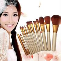 12pcs/Set Pro Makeup Brushes Powder Foundation Eyeshadow Eyeliner Lip Brush Tool
