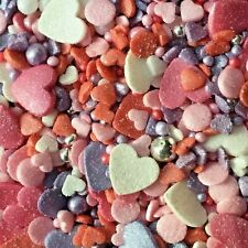 VALENTINES GLIMMER SPRINKLE EDIBLE MIX for Cake Decorations by Nice Buns