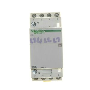 3 x Schneider 25 Amp 4 Pole Contactor Normally Open 400v 220 - 240V Coil 25A