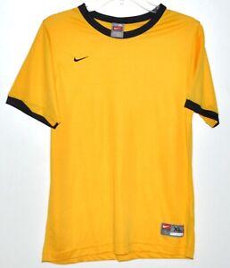 Nike Team Shirt Ringer Tee Short Sleeve Yellow and Black Youth Sz XL NWOT