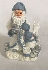 """RARE 8"""" SNOW BUDDY WITH SANTA CLAUS AND REINDEER. ENCORE GROUP 1998"""