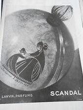 PUBLICITE 1932  Parfums Lanvin Scandal
