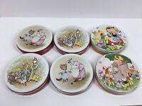 Lot of 6 vintage Huntley Palmer Tins Including Beatrix Potter