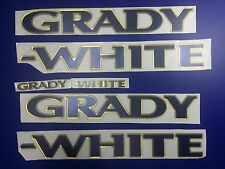 "Grady-White boat Emblem 40"" GOLD DEEPBLUE Epoxy Stickers Resistant to mech shock"