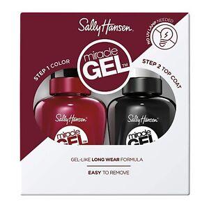 Sally Hansen Miracle Gel Nail Polish 601 Dig Fig & Top Coat Value Pack