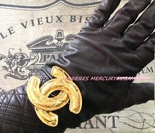 """CHANEL XXL LARGE 2.25"""" CC BROOCH PIN 24K Gold Plated JUMBO & SUPER RARE VTG FIND"""