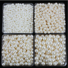 Wholesale 2-40mm ABS Round  Acrylic Pearls Beads Diy Jewelry Making Full Size
