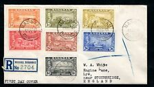 Bahamas - 1948 Tercentenary Part Set to 4d Registered First Day Cover