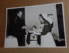 1950's Photograph Red Cross nurse Receiving An Award  6.5 x5 inches