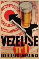 BEER ~ VEZELISE No1 DES BIERES LORRAINES 24x36 POSTER NEW/ROLLED!