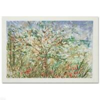 """Edna Hibel """"Tree In Spring"""" Hand Signed Limited Edition Serigraph Art"""