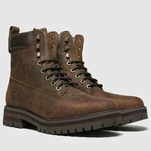 TIMBERLAND BROWN COURMA GUY BROWN WATERPROOF LEATHER BOOTS SIZE 12.5
