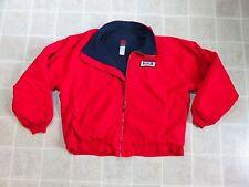 Vtg 90s RED KAP Mechanic Red JACKET Mens XL-RG Fleece Lined Work Wear Shop USA