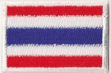 Ecusson patche brodé thermocollant pays patch Thaïlande Thai petit 45x30 mm