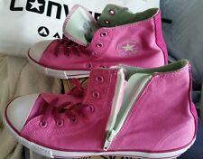 Converse Canvas Zip Hi Pink Shoes 24cm US 6 UK 5.5 or 38.5 EU Bag