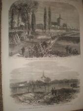 Pardubitz Pardubice Czech republic & Chlum Sadowa graves 1866 prints ref C