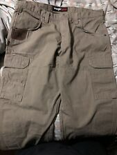 mens wrangler riggs workwear Brown Pants 38x30 - #12