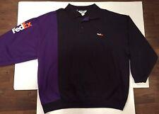 FedEx Express Stan Herman Long Sleeve Jacket Polo Uniform Shirt Size 3XL EUC