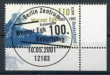 Federale mi-nr 2186 angolo 4 (0,56) - 100.ge. Werner Egk-mangiate Berlin 2001
