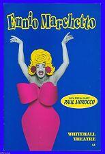 """Playbill """" Ennio Marchetto """" Paul Morocco , Alessandro Bernardi"""