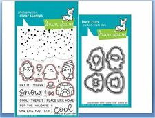 Lawn Fawn Photopolymer Clear Stamp & Die Combo ~ Snow Cool Winter ~Lf1226,1227