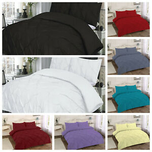 AmigoZone New Pintuck Percale Luxury Duvet Cover Set with Pillow Cases All Sizes