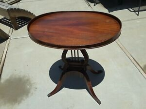 """MERSMAN FURNITURE Traditional Table Harp Base 25"""" Accent Gueridon End Table"""