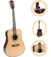 Zuwei D45 Acoustic Electric Guitar Abalone Body&Neck Inlay Rosewood Back&Side