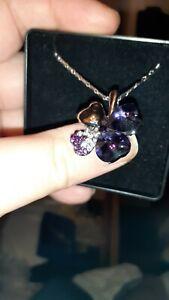 Purple Swarovski Elements Necklace