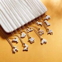 Fashion Jewelry Animal Zodiac Silver Clavicle Choker Pendant Short Necklace Gift