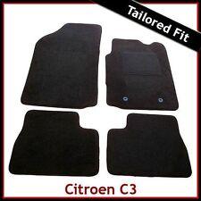 CITROEN C3 Mk1 2002-2010 completamente montato su misura tappetini auto moquette nera