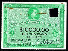 US RX46 1950 $10000 Distilled Spirits Stamp VF SCV $90