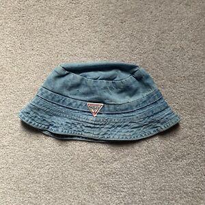 Vintage Guess Jeans Paris size Medium Denim Bucket Hat