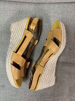 Franco Sarto Wedge Sandals Yellow Size 7M