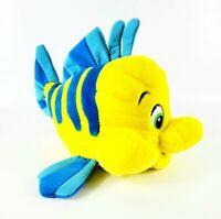 "Walt Disney The Little Mermaid Flounder  Plush Pillow 14"" LARGE Yellow Fish"