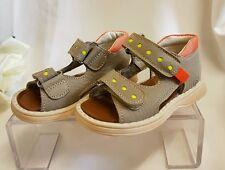 Niños Chica Joven Bebé Zapatos Sandalias Hecho ITALY gris 1108 Talla 20