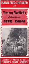 Vintage 1960s Tommy Bartlett'S International Deer Ranch Florida Brochure