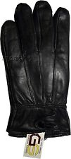 Men's Leather Gloves, Size XLarge Winter gloves, lined warm Black leather gloves